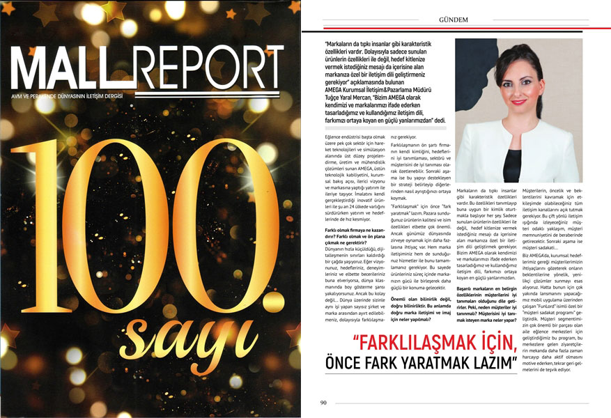 MALL REPORT 100. SAYI RÖPORTAJI